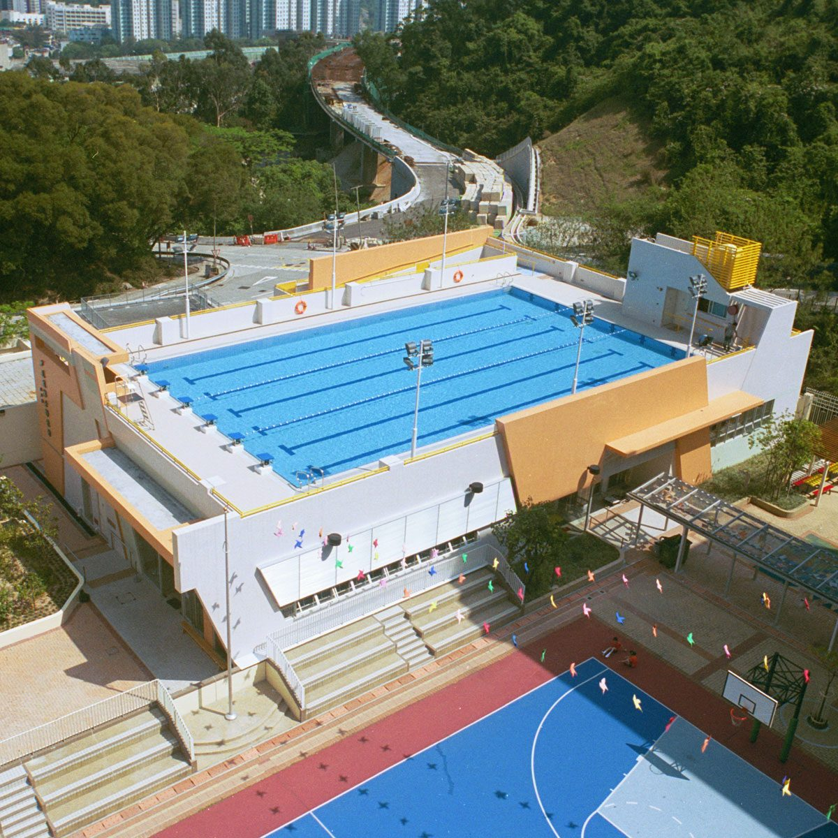 Dr. Lee Shau Kee Swimming Pool Complex, Institutional Development at Pui Kiu College, Lower Shing Mun Road, Shatin, Tai Wai, New Territories